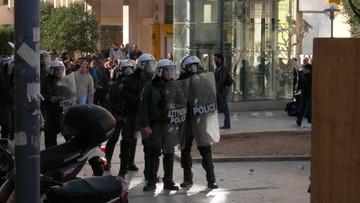 Starcia greckiej policji z protestującymi w Atenach rolnikami