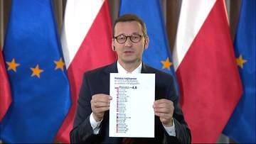 """""""Trzaskowski chyba nie wie, co to jest PKB"""". Premier o prognozach KE"""