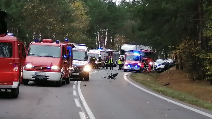 Na miejscu zjawiło się wiele pojazdów straży pożarnej i pogotowia ratunkowego