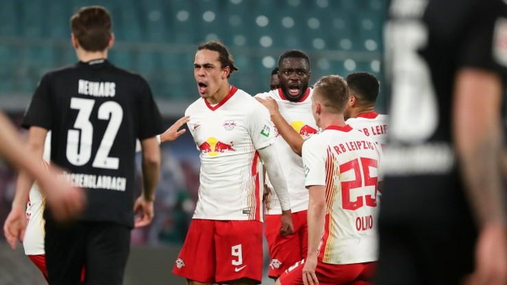 RB Lipsk rzutem na taśmę pokonał Borussię Moenchengladbach