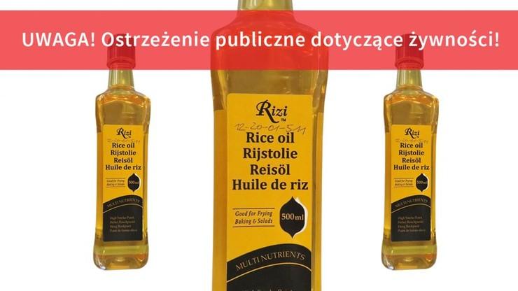 Olej z ryżu wycofany ze sprzedaży