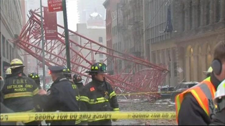 Runął potężny dźwig. Katastrofa budowlana w Nowym Jorku