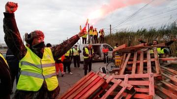 """Protest """"żółtych kamizelek"""" we Francji. Aresztowano mężczyznę, który groził detonacją granatu"""