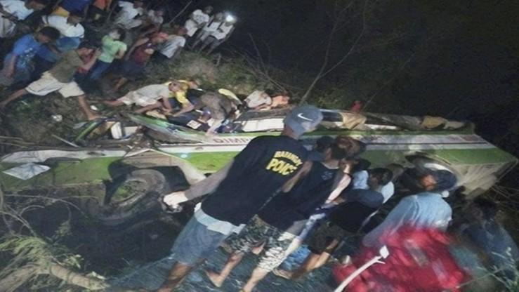 Tragiczny wypadek na Filipinach. Autobus spadł do wąwozu