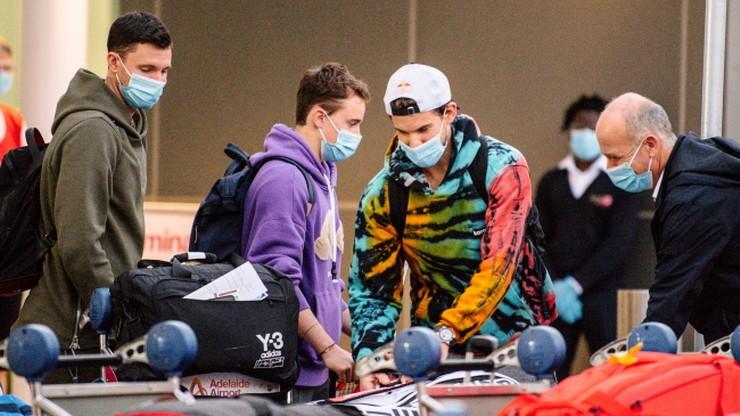 Australian Open: Liczba tenisistów w izolacji po podróży wzrosła do 72