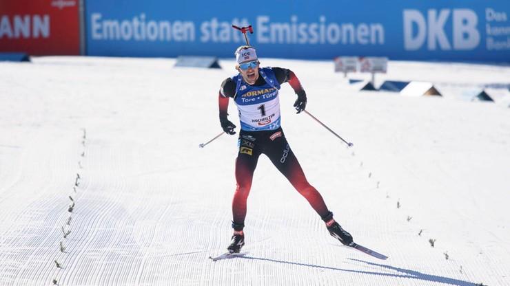 PŚ w biathlonie: W Oberhofie znów norweskie podium