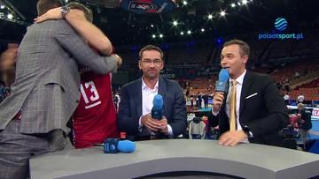 Michał Kubiak w objęciach ekspertów Polsatu Sport