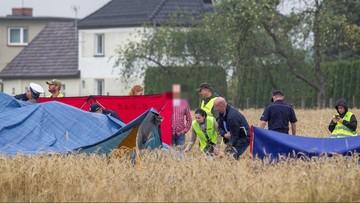 Śmigłowcem, który rozbił się pod Opolem, leciał ojciec z synami. Maszyna runęła na pole