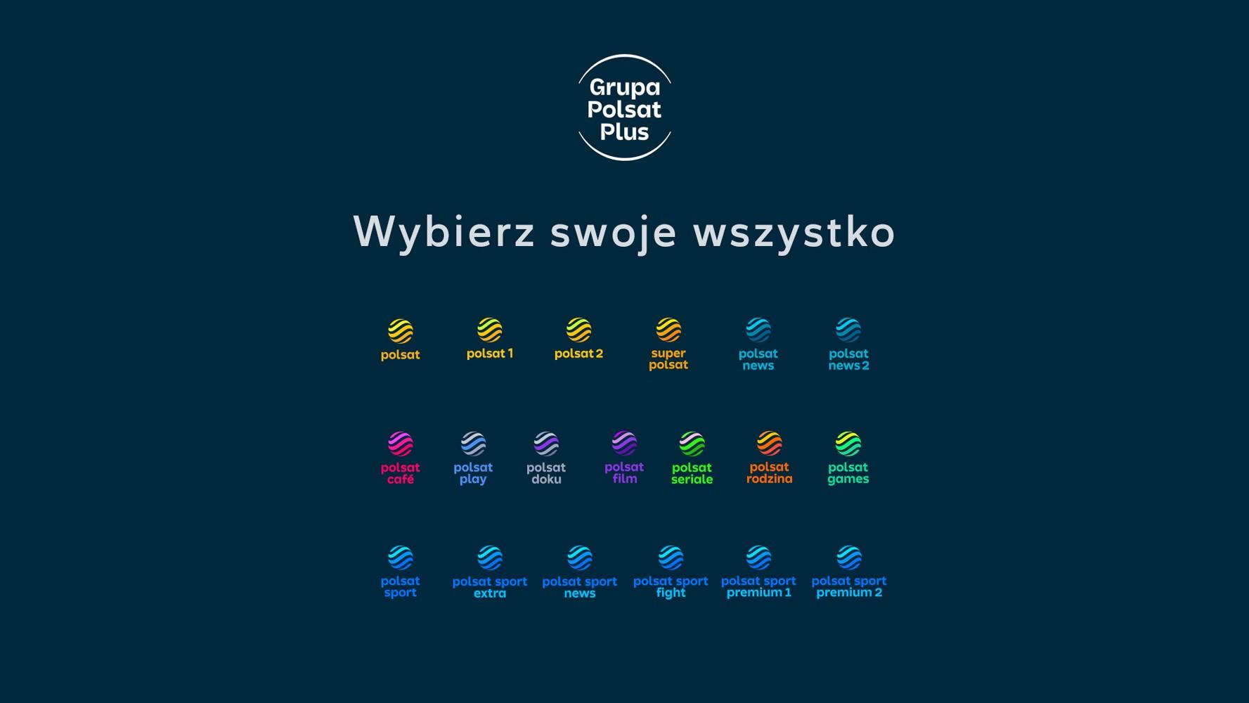 Kanały tematyczne Telewizji POLSAT z nowymi logotypami