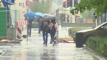 Intensywne opady deszczu z burzami. Ostrzeżenia i pogoda zagrożeń
