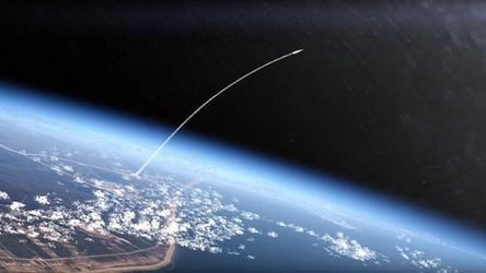 Niesamowite ujęcie z pokładu stacji kosmicznej na start rakiety Sojuz