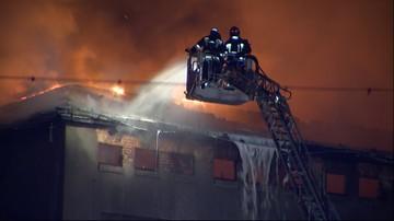 Pożar starego młyna w Poznaniu