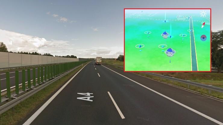 Łapali pokemony na autostradzie A4. Grozili innym kierowcom