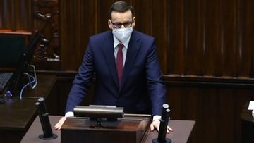 """Premier w Sejmie podziękował Lewicy i nie tylko. """"Rzeczowy, merytoryczny dialog"""""""