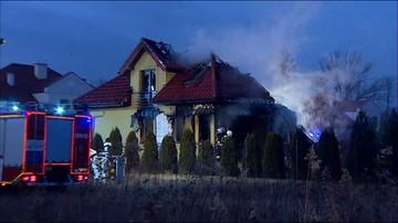 Łomianki: pożar budynku, w którym znajdowały się fajerwerki