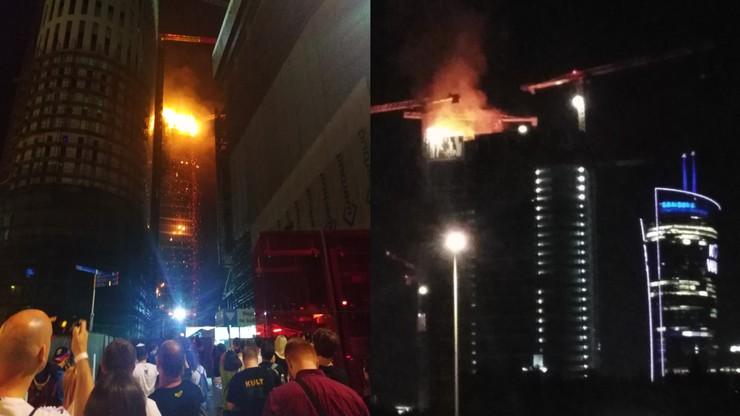 Pożar na budowie wieżowca w stolicy