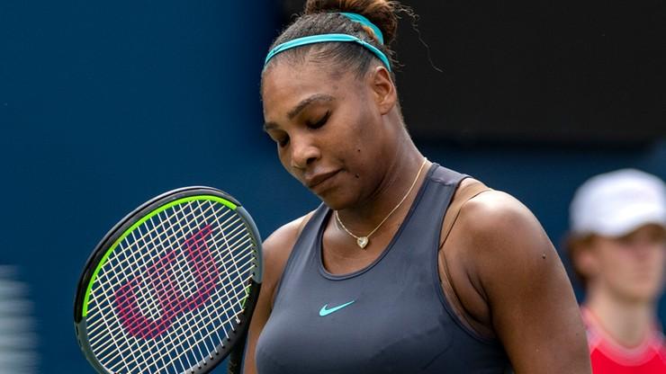 WTA w Cincinnati: Serena Williams wycofała się z powodu kontuzji