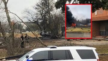 Pięć ofiar katastrofy samolotu w Luizjanie. Miał zahaczyć o linie energetyczne [WIDEO]