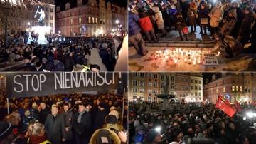 W całej Polsce wiece poświęcone pamięci Pawła Adamowicza
