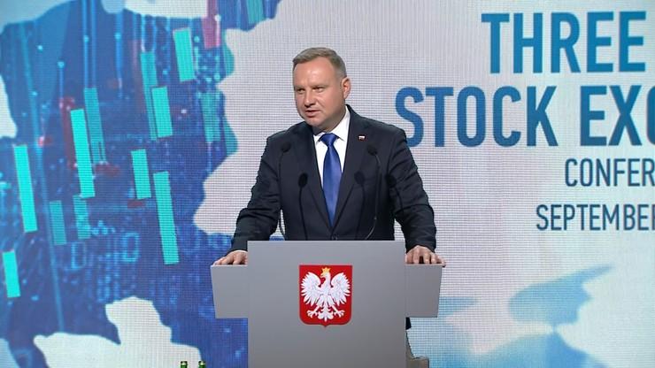 """""""Rozwój Trójmorza służy całej Unii Europejskiej"""". Prezydent mówił o największej od XVII w. szansie"""