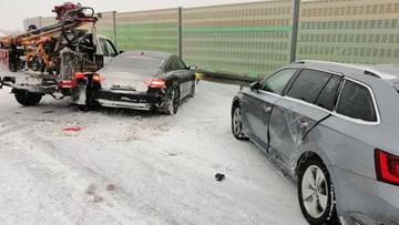 Seria wypadków na trasie S8. Śnieżyce w całej Polsce