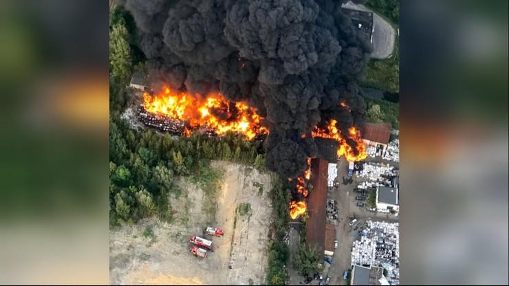 Sosnowiec: pożar składowiska odpadów został opanowany