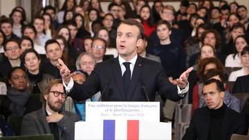 Macron: język angielski zbyt dominujący w Unii Europejskiej