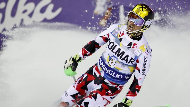 Chwile grozy w alpejskim PŚ. Dron spadł tuż obok Marcela Hirschera