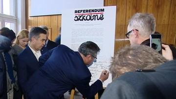Pomagają nauczycielom. Ruszyła zbiórka podpisów pod referendum ws. reformy oświaty