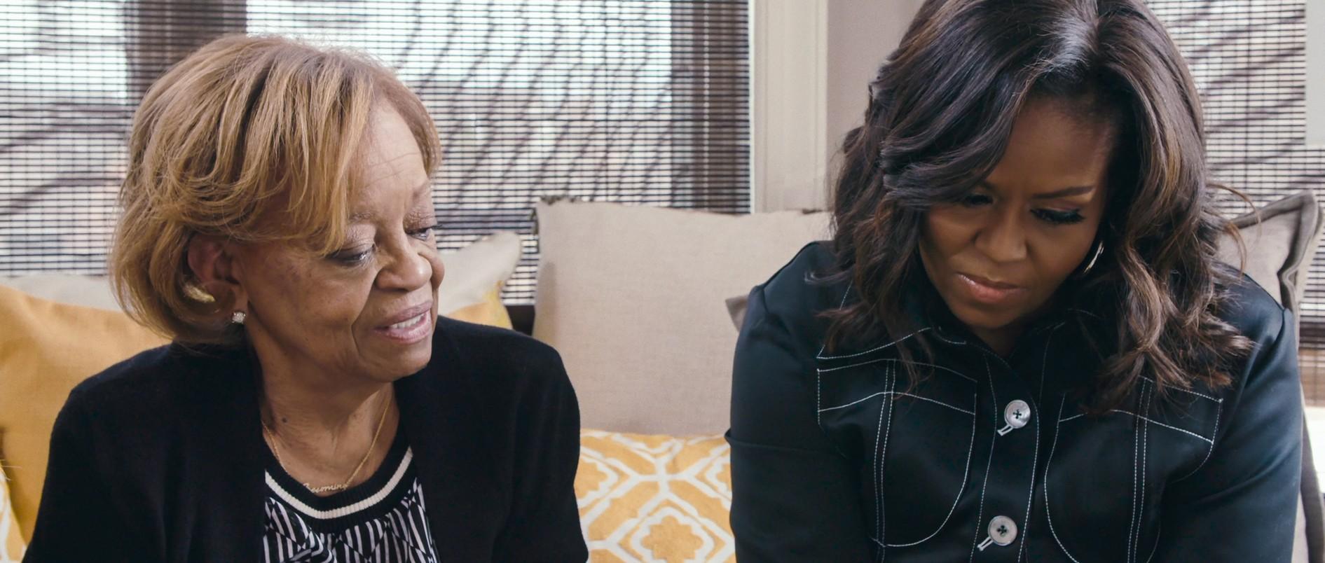Michelle Obama ze swoją matką