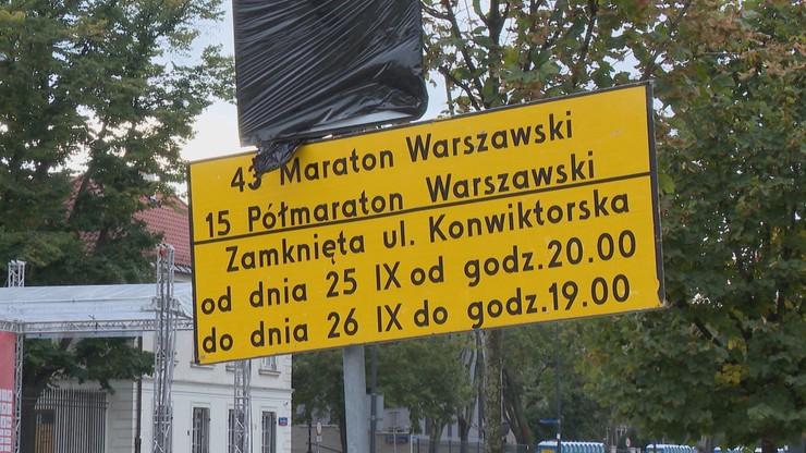 Warszawa. W niedzielę Maraton Warszawski. Duże utrudnienia w ruchu