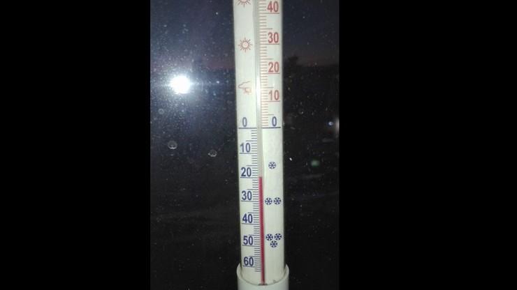 Minus 20 stopni Celsjusza w Sanoku na Podkarpaciu. Atak mroźnej zimy