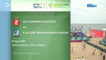 PreZero Grand Prix: ŁKS Commercecon Łódź - E.Leclerc Moya Radomka Radom 2:1. Skrót meczu