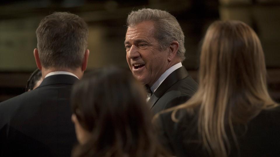 Mel Gibson na gali rozdania Oskarów w 2017 roku