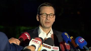 """Premier przyjechał do kopalni Zofiówka i do szpitala. """"Robimy wszystko, by odnaleźć górników"""""""