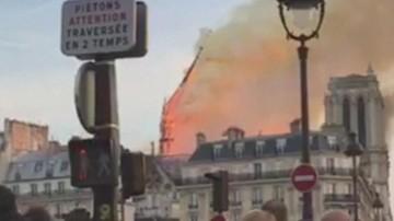 Zobacz moment, gdy runęła iglica Notre Dame [WIDEO]