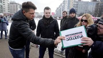 Nowoczesna zbiera podpisy ws. referendum edukacyjnego