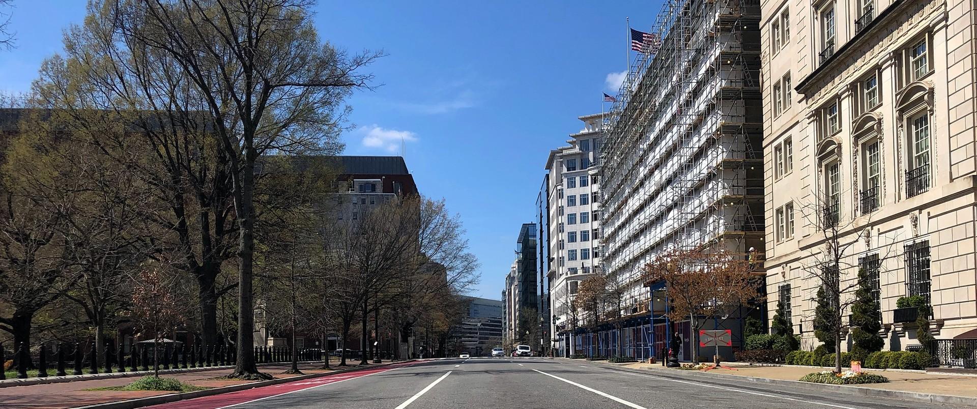 Puste ulice Waszyngtonu
