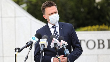 """""""To woda na młyn Jarosława Kaczyńskiego"""". Hołownia o wystąpieniu Tuska"""