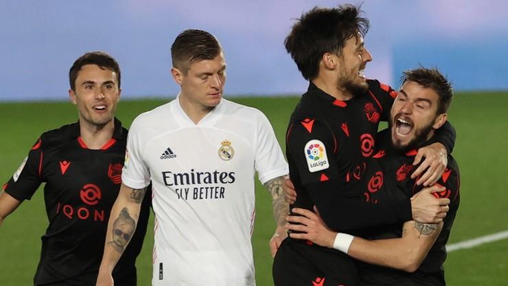 La Liga: Real Madryt ledwo uratowali remis w meczu z Realem Sociedad