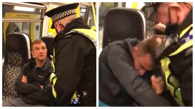 Nie miał maseczki w pociągu. Policjant użył gazu pieprzowego [WIDEO]