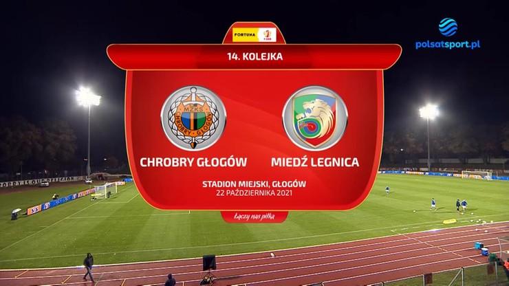 Chrobry Głogów – Miedź Legnica 0:0. Skrót meczu