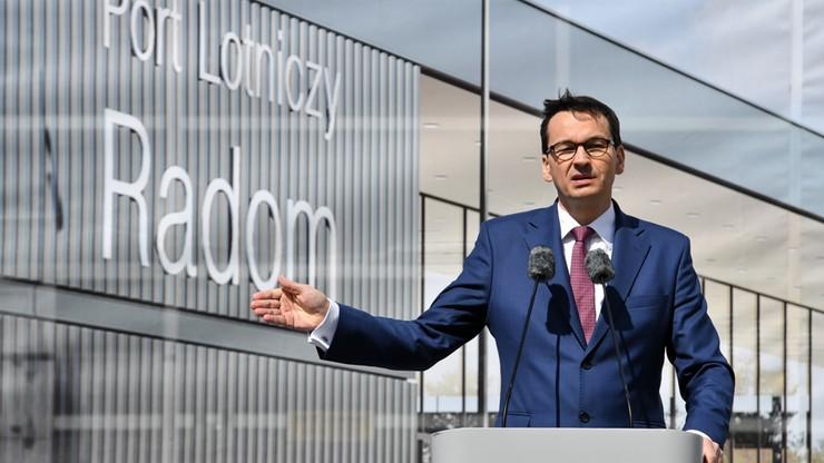 Premier: Radom będzie portem zapasowym dla Lotniska Chopina i dla CPK