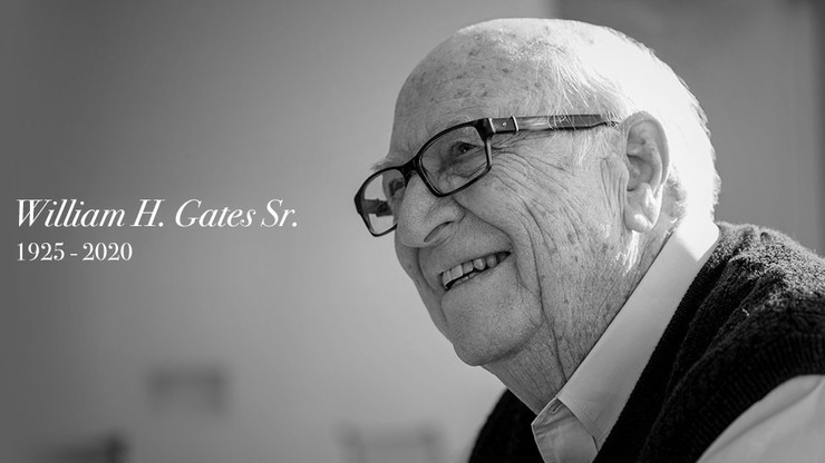 Bill Gates Senior nie żyje. Ojciec założyciela firmy Microsoft miał 94 lata