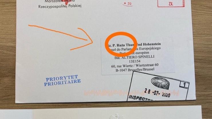 Błąd ortograficzny w zaproszeniu dla Róży Thun. Jest reakcja dyrektora CIS