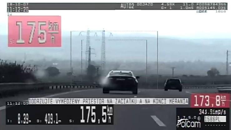 Kolejny pirat drogowy z Polski zatrzymany na Słowacji. Jechał ponad 180 km/h