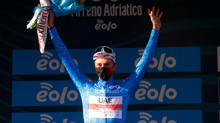 Tirreno-Adriatico: Pogacar wygrał czwarty etap i został liderem