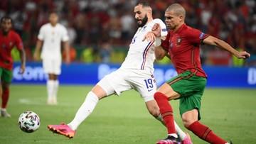 Euro 2020: Portugalia - Francja 1:1. Gol Karima Benzemy