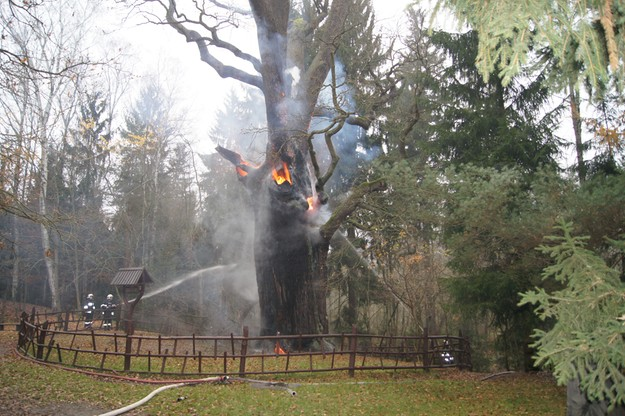 Pożar Chrobrego - 18 listopada 2014 r.