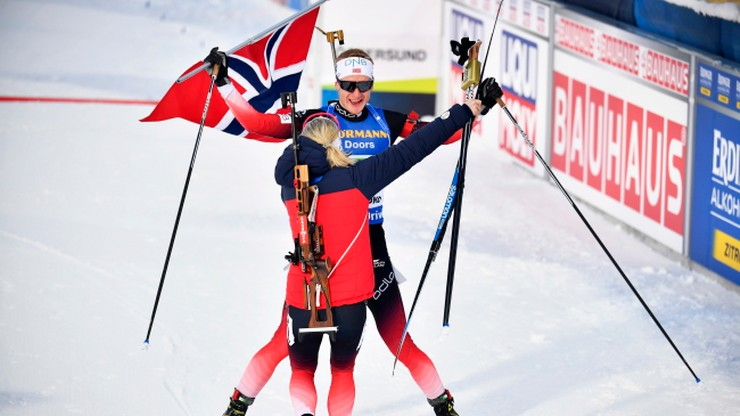 MŚ w biathlonie: Polska para 23. w supermikście, triumf Norwegów